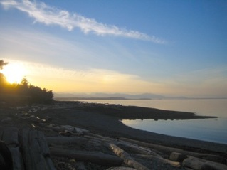 Sunset on Hornby Island